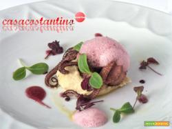 Polpo arrostito su macco di fava larga di Leonforte e aria di nero d'Avola - Oggi cucina...Chef Filippo Ventimiglia