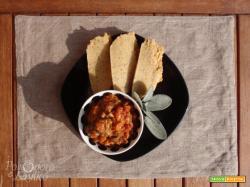 Funghi in umido con polenta taragna