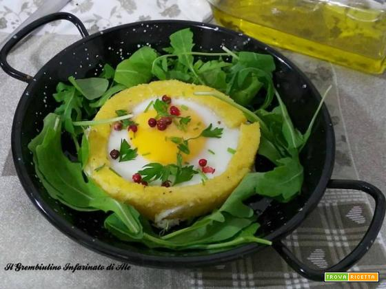 Uova in crosta di polenta