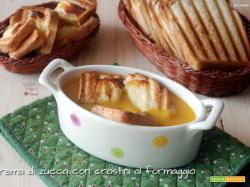Crema di zucca con crostini al formaggio