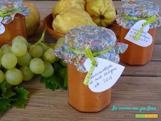 Marmellata di mele cotogne e uva