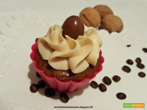 Cupcake caffè e noci