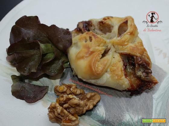 Fagottini di nashi, gorgonzola e noci