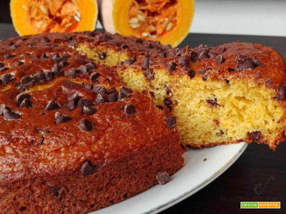 Torta zucca ricotta e cioccolato