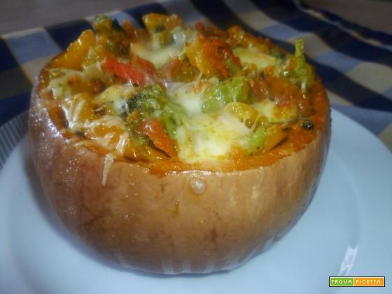 Zucca ripiena di verdure