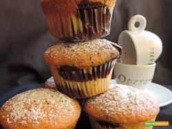 Muffin bicolore vaniglia cacao  (senza burro)