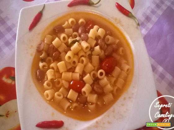 pasta fagioli peperoncino