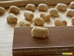Gnocchi di patate con farina integrale e semola