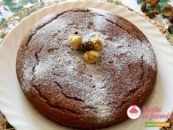 Torta con farina di castagne e caffè senza lattosio