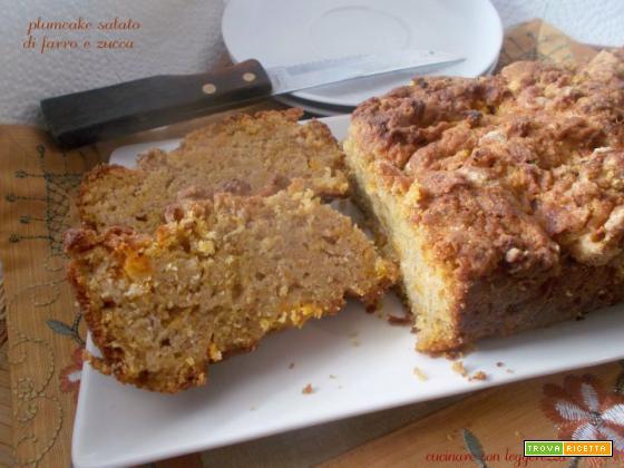 Plumcake salato di farro e zucca