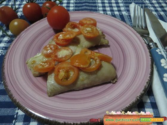 Palombo gratinato pomodorini e parmigiano