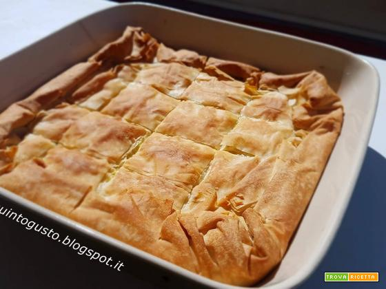 Torta di zucchine e feta in pasta fillo