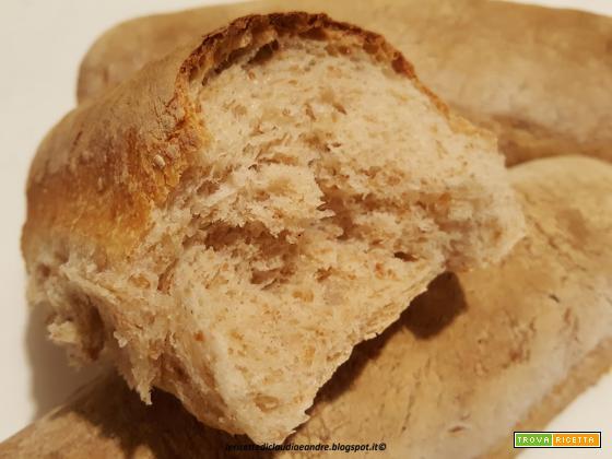 Filoni di pane con crusca e lievito madre