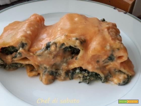 Paccheri al forno con spinaci e besciamella