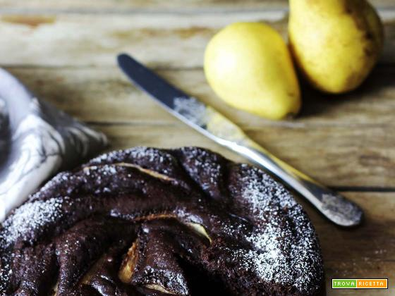 Torta soffice pere e cioccolato (senza burro e latte)