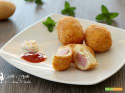 Crocchette farcite di patate, croccanti e non unte