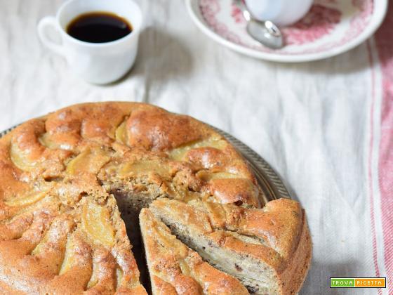 Torta di pere, grano saraceno e cioccolato
