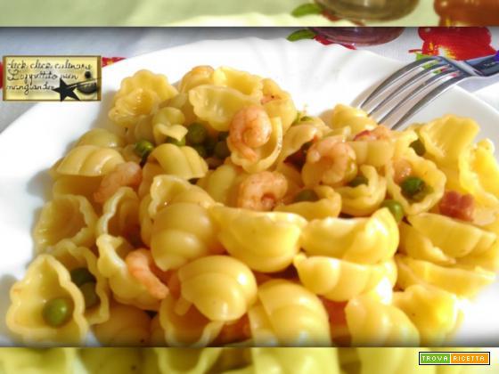 Pasta Gamberetti e Piselli con le Arcobaleno Amc