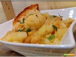 Zuppa di patate cavolfiori e ceci