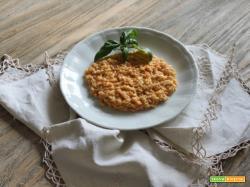 risotto alle carote, pomodoro e basilico