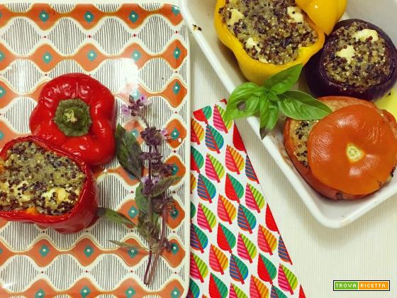 Verdure al forno ripiene di quinoa