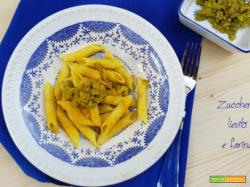 Pasta con broccolo romanesco e curcuma