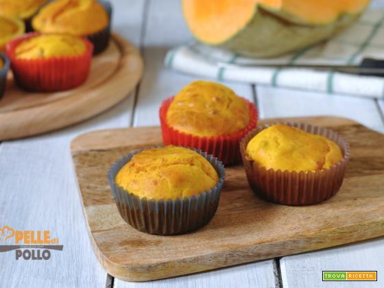 Muffin salati alla zucca con speck