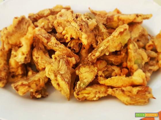 I carciofi dorati e fritti
