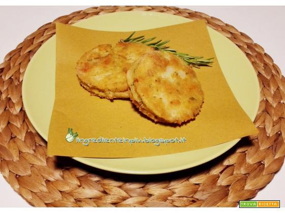 Cordon bleu di sedano rapa al rosmarino (gluten free)