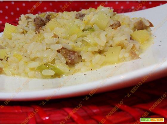 Riso con verza patate e salsiccia