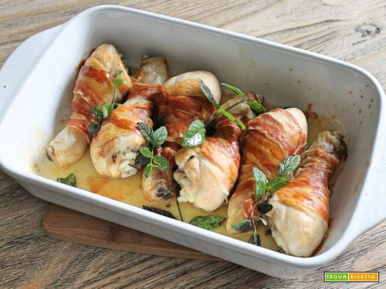 Cosce di pollo zenzero e pancetta