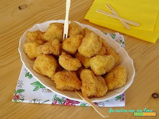 Bocconcini di petto di pollo fritti