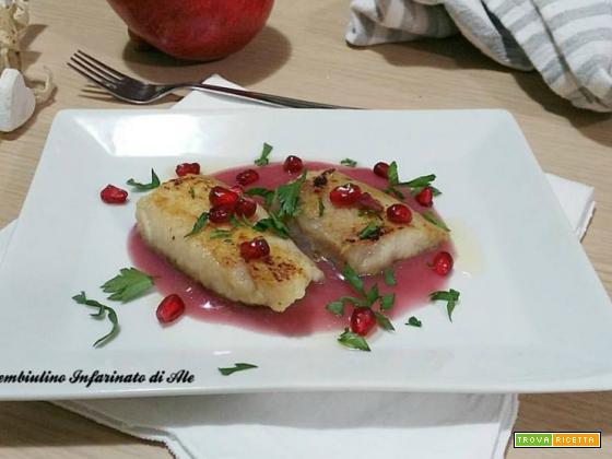 Filetto di gallinella su salsa al melograno