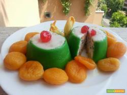 Cassatine siciliane con albicocche spiritate