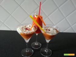 Drink di albicocche aromatizzato ai fiori di zucca