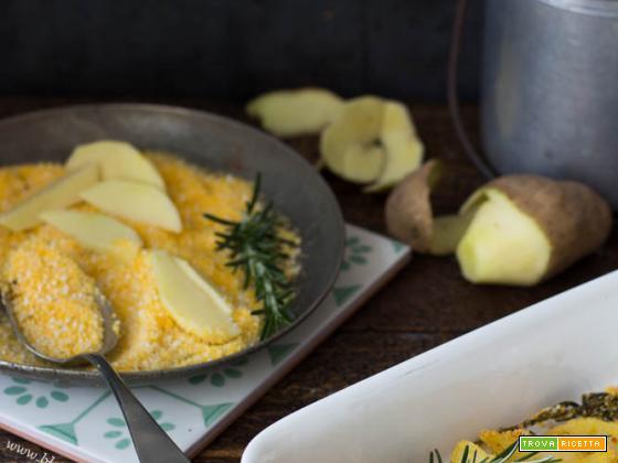Patate croccanti con farina gialla