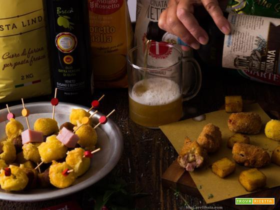 polenta avanzata. Ricette con avanzi, aperitivo alla vicentina.