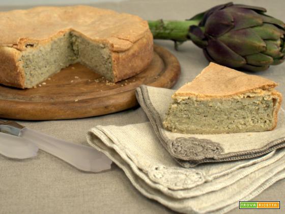 Torta salata di mammaCera ai carciofi