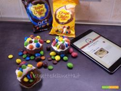 Chupa Chups Choco Cupcakes