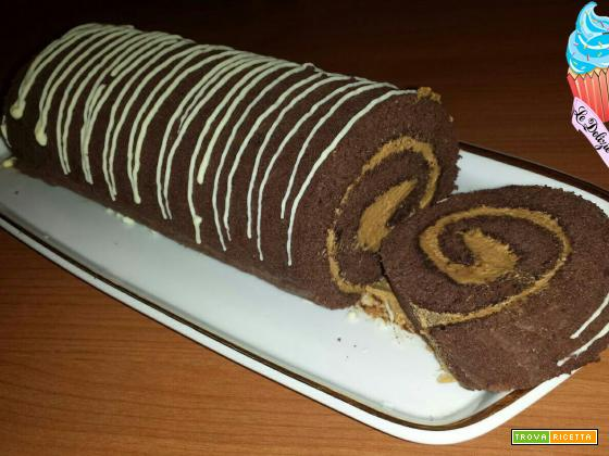 Rotolo al cacao con crema al mascarpone e caffè