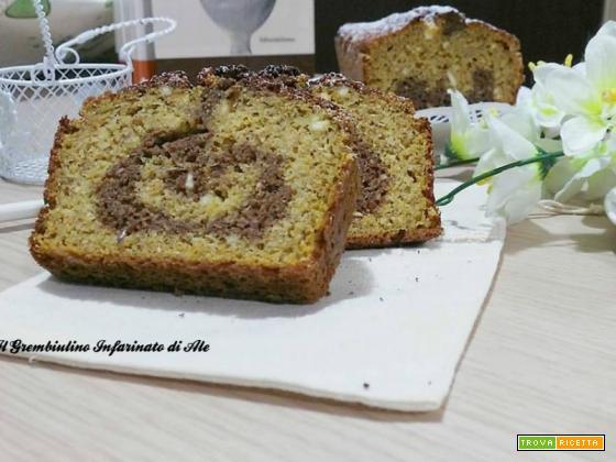 Plumcake variegato alla zucca e amaretti