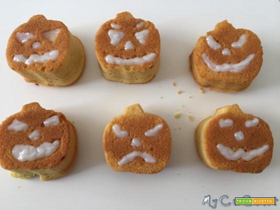 Muffin zucche di Halloween impastati con Cuisine, i-Companion e Volupta Moulinex