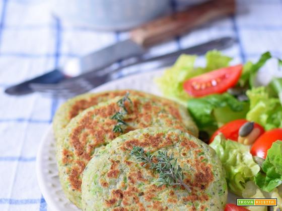 Burger vegetariani di zucchine e ricotta