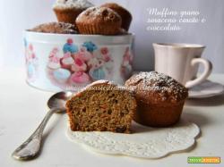 Muffins grano saraceno carote e cioccolato