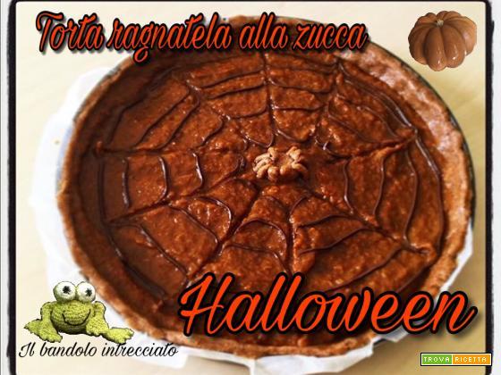 Crostata di zucca decorata per Halloween con video ricetta