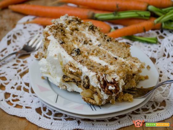 Torta di carote americana o carrot cake