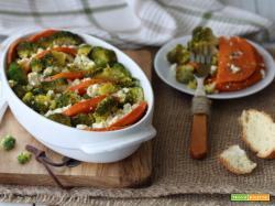 Terrina feta broccoli e zucca al rosmarino