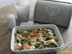 Conchiglioni con gallinella, spinaci e pomodoro