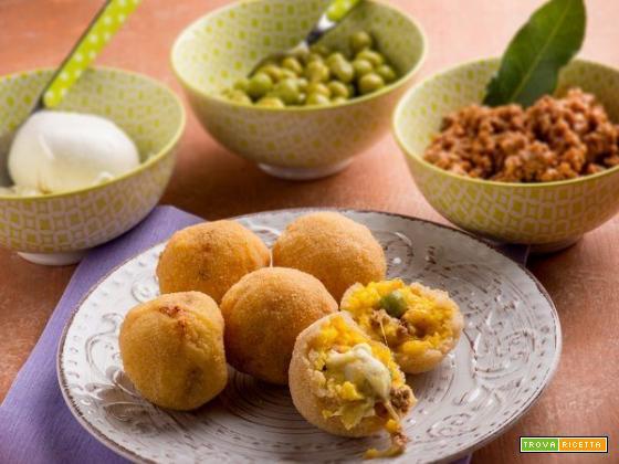 Gli sfiziosi arancini di riso siciliani al forno , una delizia