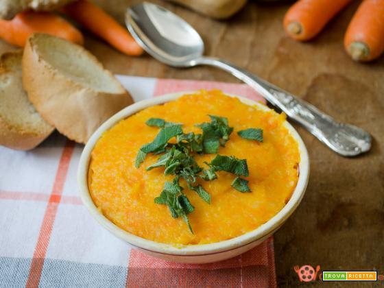 Vellutata di carote e patate allo zenzero